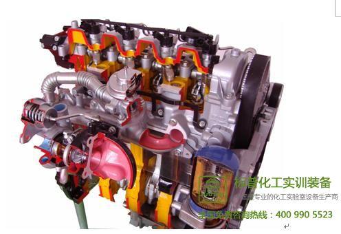 电控柴油发动机剖面动态教具|汽车解剖实训设备