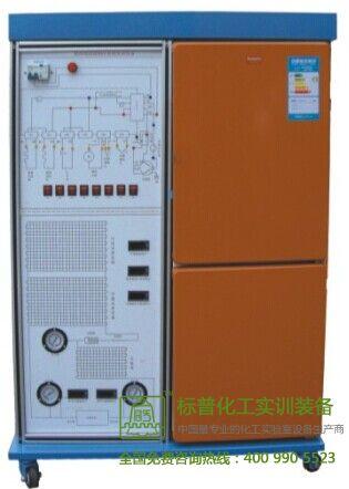 整套实训装置集直冷式,间冷式电冰箱于一体,整个电冰箱系统真实完整